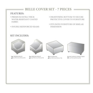 Fernando 7 Piece Patio Furniture Cover Set