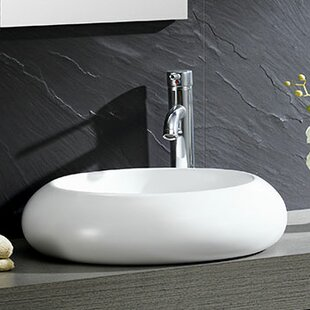 Reviews Modern Ceramic Circular Vessel Bathroom Sink By Fine Fixtures