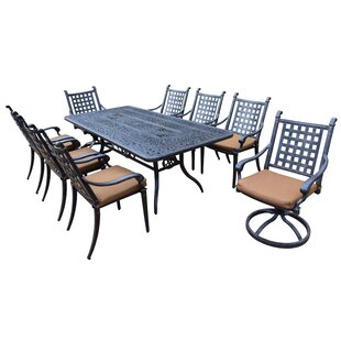 Vandyne 9 Piece Dining Set with Cushions by Darby Home Co