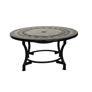 ALEKO Compact Mosaic Tile Convertible Steel Charcoal Fire Pit Table