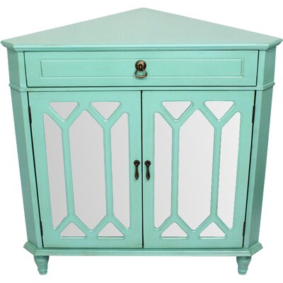 Bridges 2 Door Accent Cabinet Color: Green by Darby Home Co