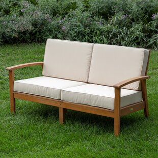 Buecker Deep Seat Settee with Cushions by Highland Dunes