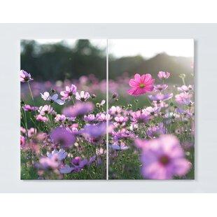 Flower Meadow Magnetic Wall Mounted Cork Board By Ebern Designs