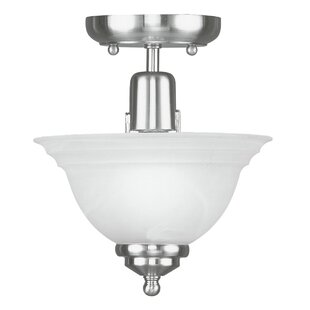 Price Check Brunette 1-Light Semi Flush Mount By Alcott Hill
