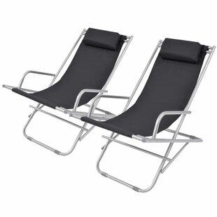 Addyson Steel Reclining Beach Chair (Set Of 2) By Zipcode Design
