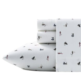 Fishing Flies 200 Thread Count 100% Cotton Sheet Set