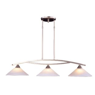 World Menagerie Beecroft 3-Light Shaded Kitchen Island Pendant