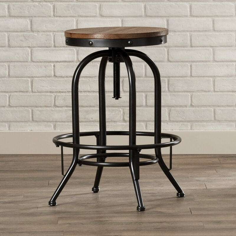 Incroyable Empire Adjustable Height Swivel Bar Stool