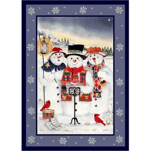 Buying Norsworthy Holiday Merry Minstrels Snowman White/ Blue Area Rug By The Holiday Aisle