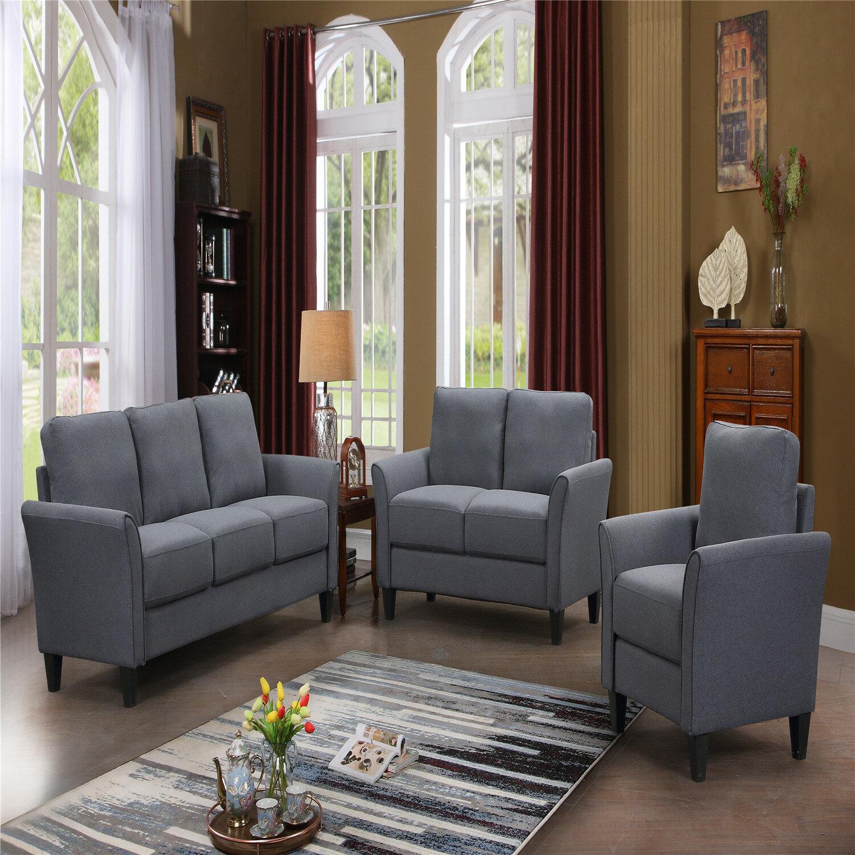 Red Barrel Studio Eavan 3 Pieces Standard Living Room Set Wayfair