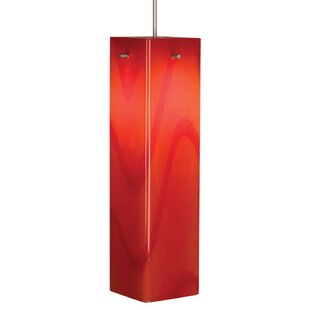 Houston 1-Light Square/Rectangle Pendant by Bruck Lighting