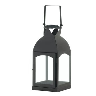 La Domed Iron and Glass Lantern