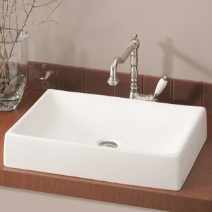 Quattro Vitreous China Rectangular Vessel Bathroom Sink