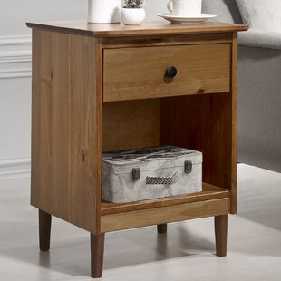 George Oliver Jaren Solid Wood 1 Drawer Nightstand