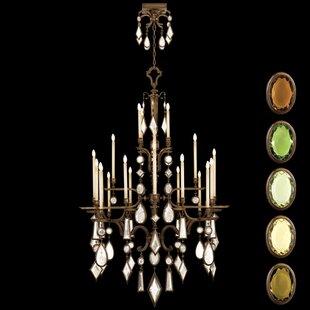 Fine Art Lamps Encased Gems 24-Light Chandelier