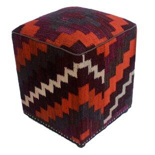 Ricciardi Kilim Cube Ottoman by World Menagerie