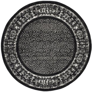 Brassfield Black/Silver Area Rug by World Menagerie