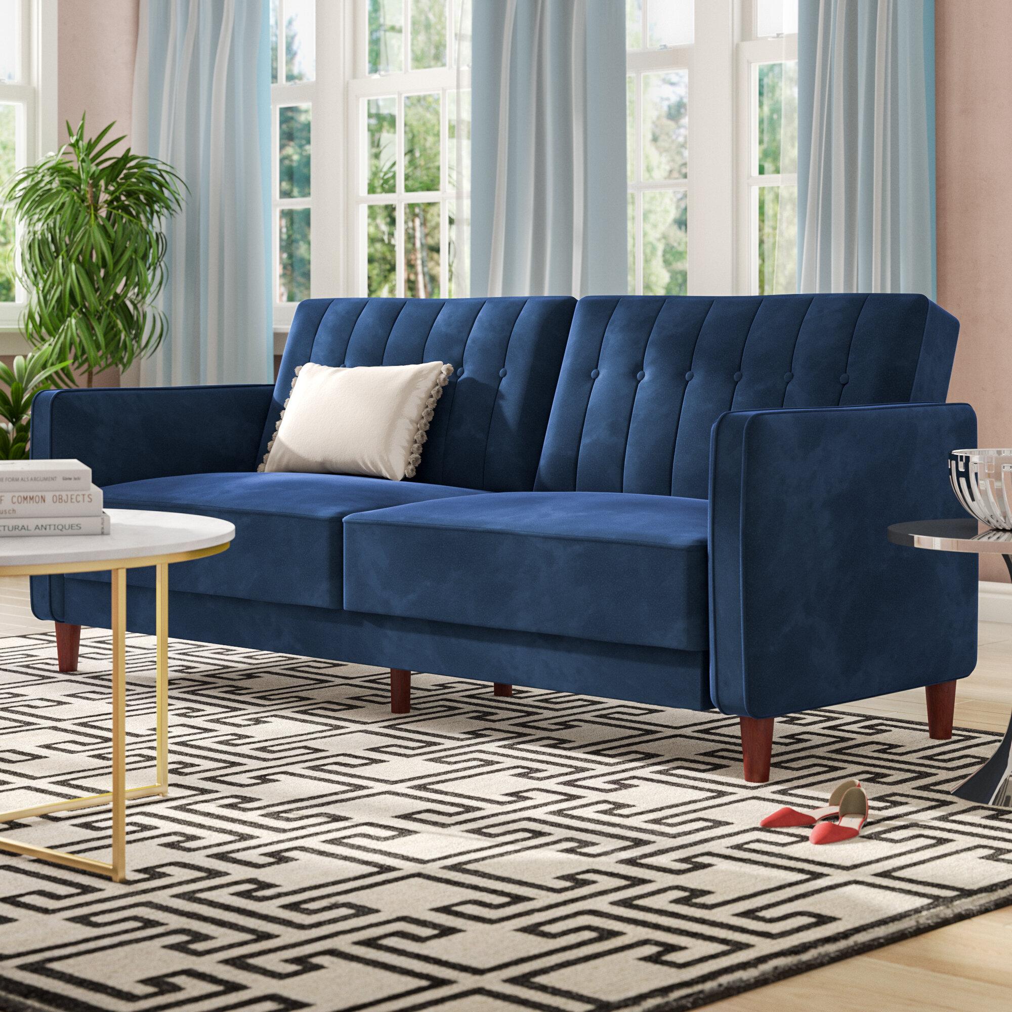 Willa Arlo Interiors Nia Pin Tufted Convertible Sofa & Reviews | Wayfair