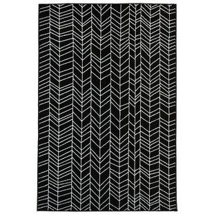 bunger lines blackwhite area rug - Black And White Rug