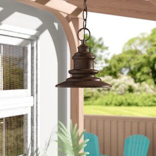 Beachcrest Home Griffin 1-Light Hazelnut Bronze Mini Pendant