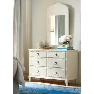 Wisp 6 Drawer Double Dresser with Mirror