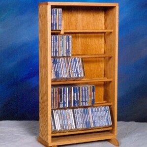 500 Series 210 CD Dowel Multimedia Storage Rack by Wood Shed