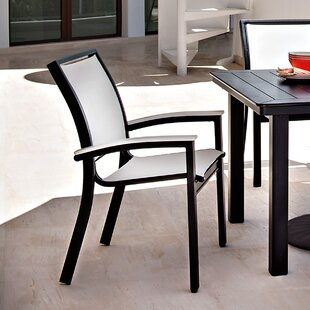 Bazza Stacking Patio Dining Chair (Set of 2)