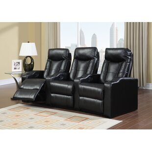 3-Piece Leather Home Theater Sofa by Ebern Designs