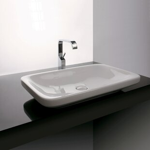 WS Bath Collections Start Ceramic Rectangular Vessel Bathroom Sink