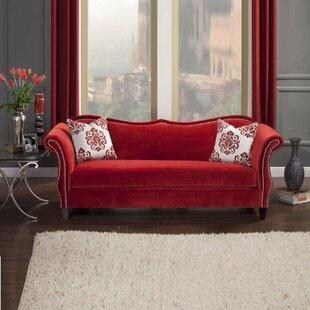 red velvet sofa. Lundell Premium Velvet Sofa Red