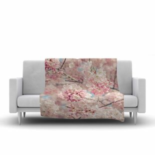 Looking for Suzanne Harford Cherry Blossoms Photography Fleece Blanket By East Urban Home