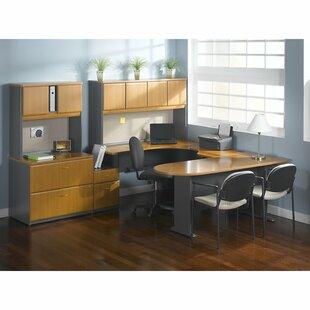 Bush Business Furniture Series A 3 Piece L- Shape Desk Office Suite
