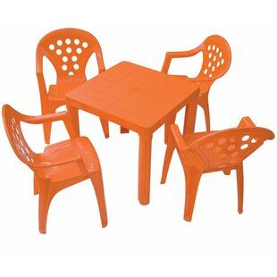 Read Reviews Kids 5 Piece Writing Table and Chair Set ByGrandsoleil
