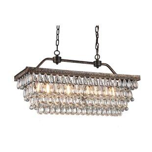 Saltsman 4-Light LED Crystal Chandelier