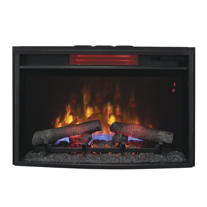Exceptional Infrared Fireplace Insert Part - 5: Hoyne Curved Infrared Quartz Wall Mounted Fireplace Insert