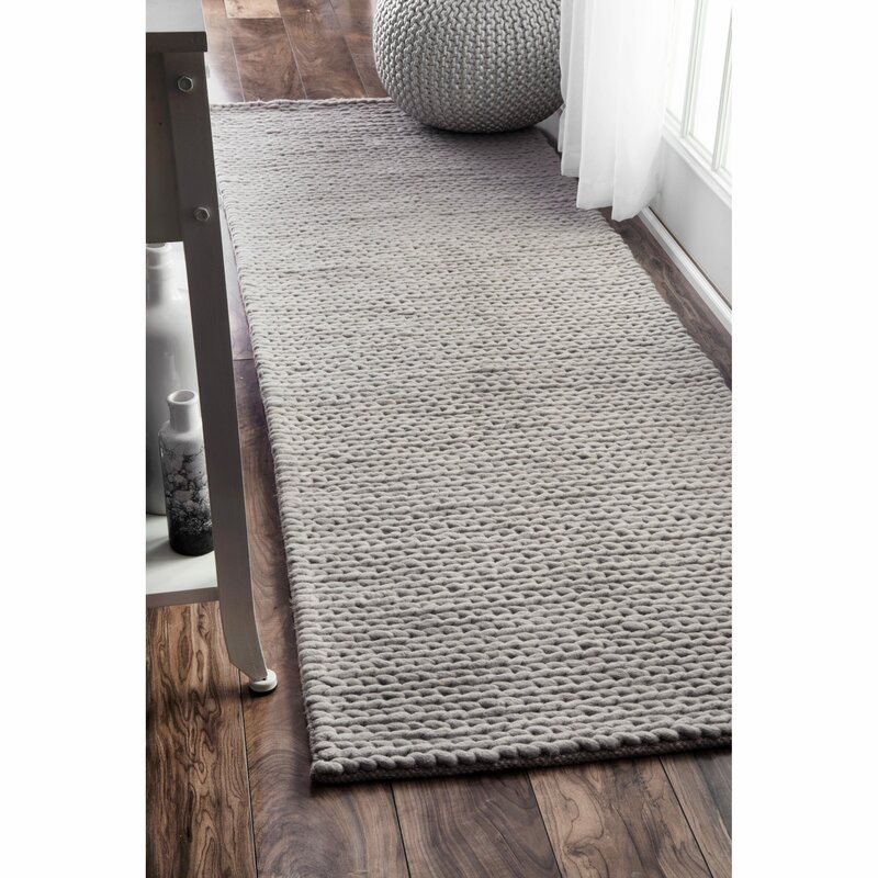 Adalaide Hand-Braided Wool Light Gray Area Rug & Reviews Jos