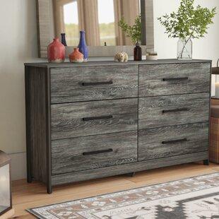 Loon Peak Fuller 6 Drawer Double Dresser