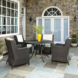 Astoria Grand Frontenac 5 Piece Dining Set with Cushions
