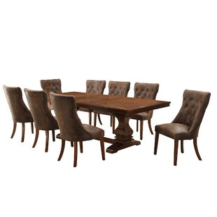 Lisa 9 Piece Extendable Dining Set Alcott Hill