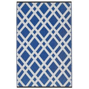 Look for Reva Dazzling Blue & White Indoor/Outdoor Area Rug ByZipcode Design