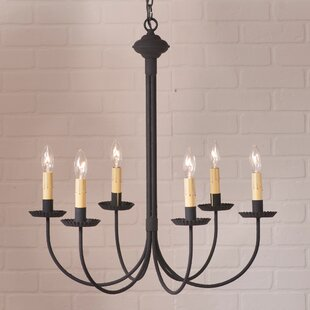 Gracie Oaks Hurst 6-Light Candle Style Ch..