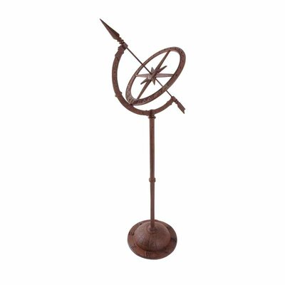 Kalani Cast Iron Sundial on Tall Foot World Menagerie