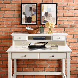 Thornfield Writing Desk With Hutch by Andover Mills Savings