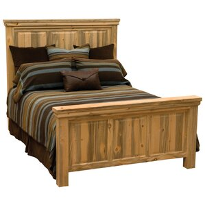 Blue Stain Pine Panel Bed by Fireside Lodge