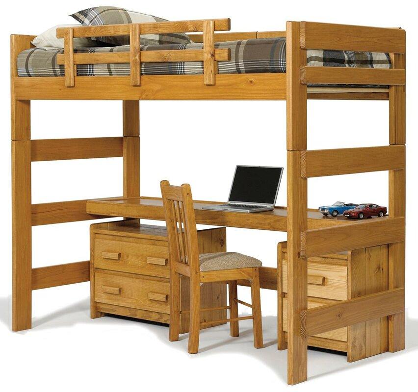 Chelsea Home Twin Loft Bed Configurable Bedroom Set & Reviews ...