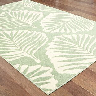 Harbin Tropical Leaf Green/Ivory Indoor/Outdoor Area Rug