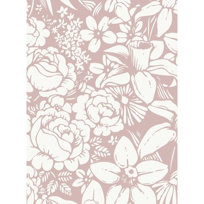Simple Shapes Flower Land Peel And Stick Wallpaper Panel