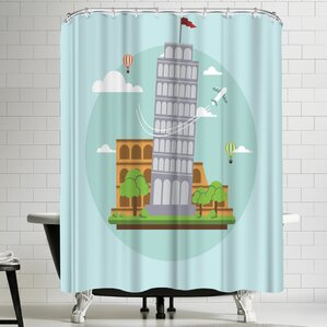 wonderful dream city country shower curtain