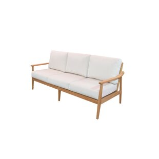 Alton Teak Patio Sofa with Sunbrella Cushions