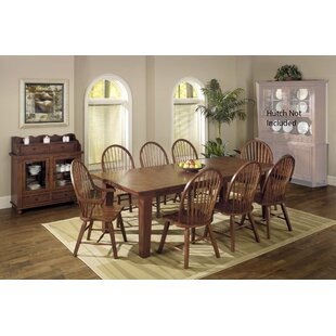 Adal 10 Piece Solid Wood Dining Set August Grove